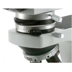 Microscopio binocular, objetivos Plan 4x, 10x, 40x, 100x