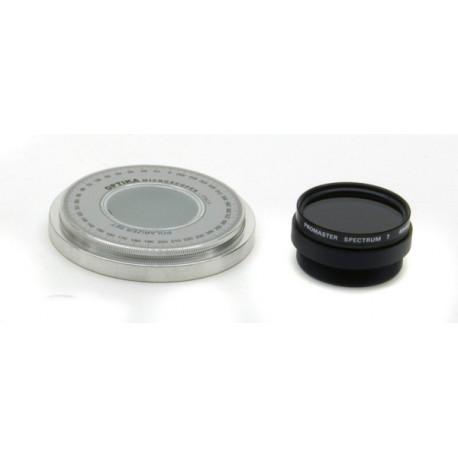 Juego de polarización (filtros y platina giratoria)