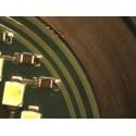 Estereomicroscopio zoom trinocular, base suspensión articulada