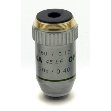 Objetivo acromático 20x