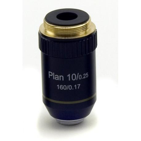 Objetivo plano acromático 10x