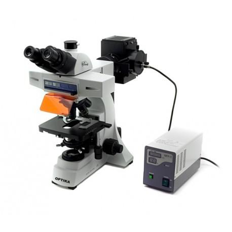 Microscopio trinocular de fluorescencia