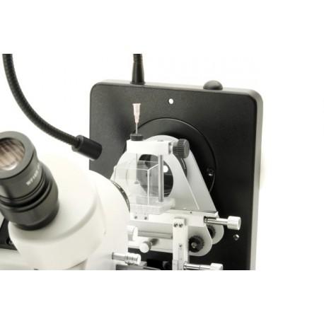 Esteromicroscopio binocular gemológico, estativo inclinable
