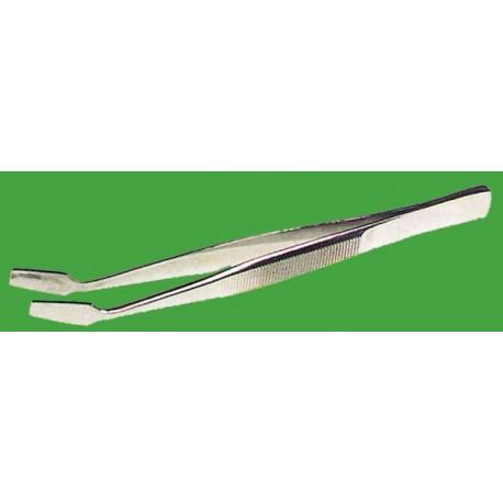 Pinzas de punta plana.120mm,acero inox.