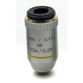 Objetivo acromático 10x