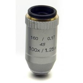 Objetivo acromático 100x