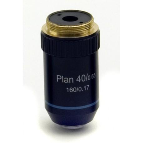 Objetivo plano acromático 40x