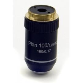 M-512 Objetivo plano acromático 100x