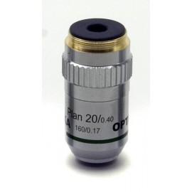 M-322 Objetivo plano acromático 20x