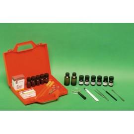 Material de limpieza y mantenimiento del microscopio.